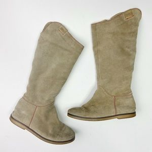 EMU Tall Suede Boots Kings Cross Sheepskin Lined